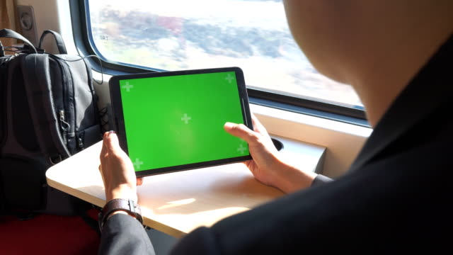 Using green screen on a train video
