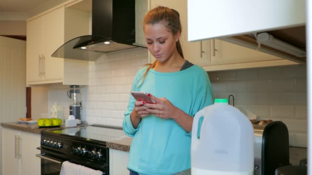 Using her Smart Phone video