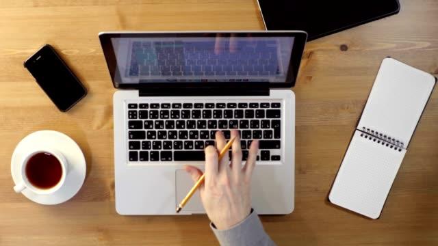 Using Laptop at the Desktop. video