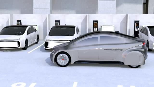 Using smart phone app to parking an autonomous car video