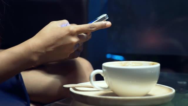 Using smart phone in restaurant video