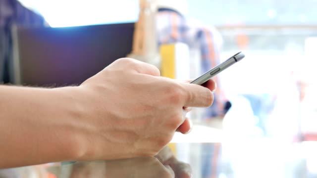Using smart phone,Close-up video