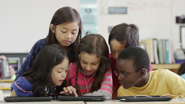 タブレットコンピューター技術を使用して、3 rd グレード小学校 ビデオ