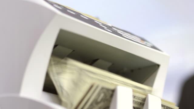HD: Using The Money Counter Machine video