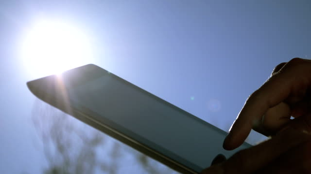 Using Touchpad on a sunny day video