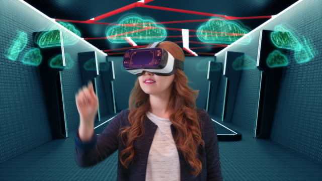 Using virtual reality goggles for cloud computing - vídeo