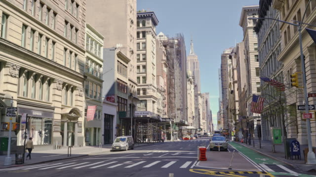 Usually overcrowded, 5TH Avenue is deserted because of the Coronavirus COVID-19 pandemic.