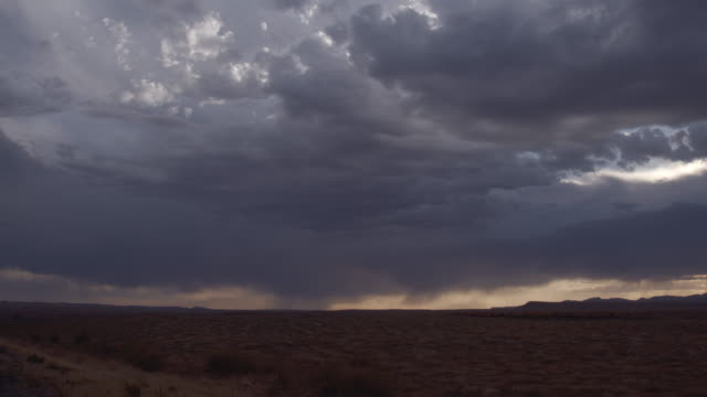 Utah Desert Cloudy Sunset Time-lapse at Dusk with Beautiful Storm Clouds on the Horizon