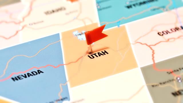 Utah from USA States tracking to Utah from USA States utah stock videos & royalty-free footage