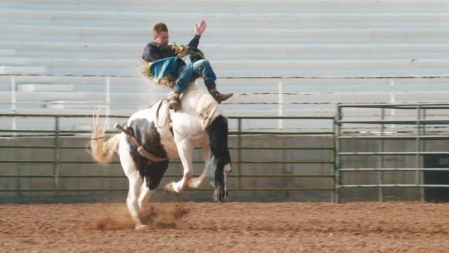 vídeos y material grabado en eventos de stock de rodeo de montar a caballo de caballo de utah - rodeo