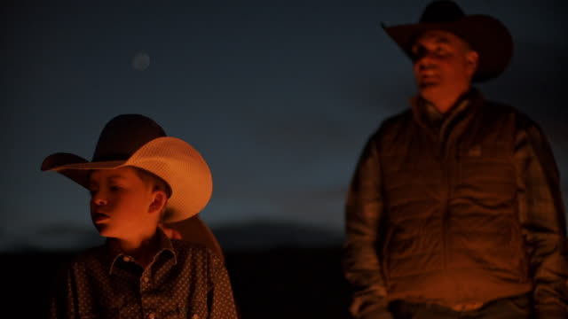 Utah Rancher Family by the bonfire video
