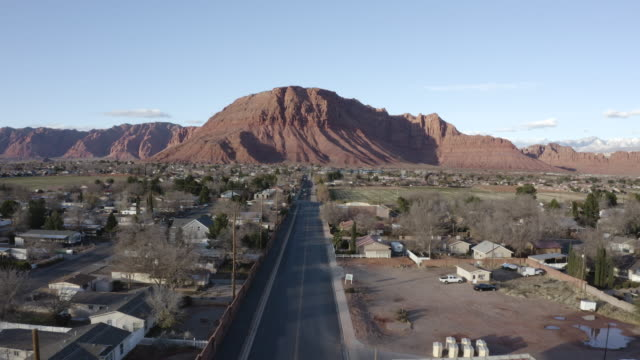 Utah Red Mountain Drone View St George and Ivins