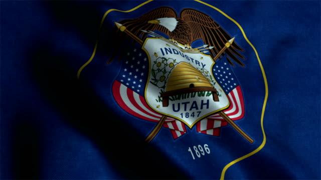 Utah State Flag Animation Utah, Salt Lake City - Utah, Flag, Constitution Day, Democracy utah stock videos & royalty-free footage