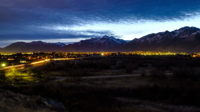 utah wasatch mountain morning timelapse - salt lake stan utah filmów i materiałów b-roll
