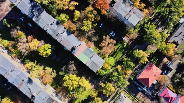 uzhhorod della storica vista aerea della città, famoso distretto residencial urbano transcarpazia, ucraina europa - transcarpazia video stock e b–roll