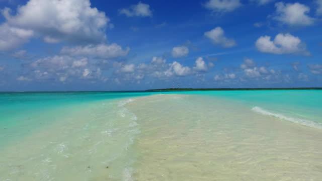 v00133 馬爾地夫美麗的海灘背景白色沙質熱帶天堂海島與藍天海水海洋4k - 地平面 個影片檔及 b 捲影像