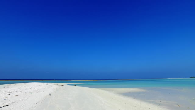 v01524 Maldives beautiful beach background white sandy tropical paradise island with blue sky sea water ocean 4k video