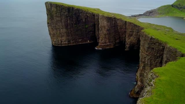 vagar landscape at the faroe islands video