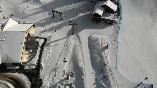 Vail Colorado Ski Area Aerial Drone Clip in the Winter