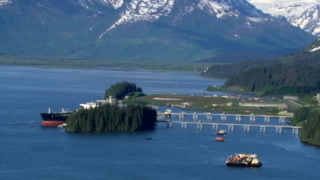 Valdez oil terminal, Alaska video