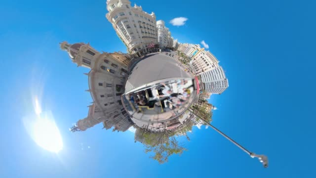 Valencia Spain, little Planet. video