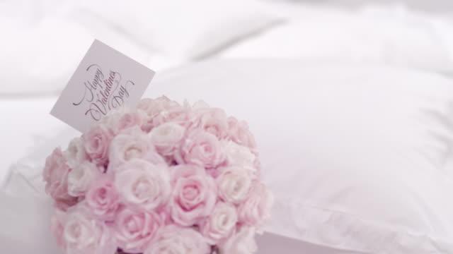 Valentiens day flower bouquet video