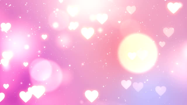 バレンタイン背景、ループ - ピンク色点の映像素材/bロール