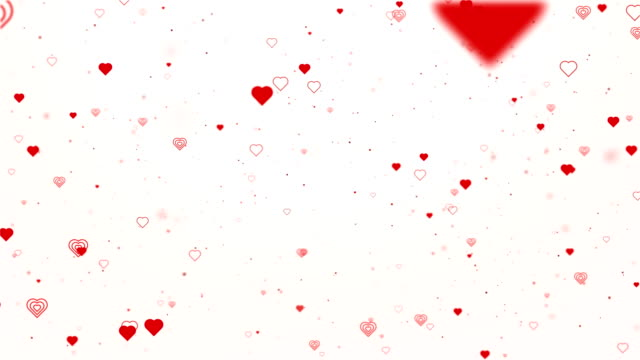 Valentine concept. Valentine concept with red hearts shape flowing on red background For St. Valentine's Day, Mother's Day, wedding anniversary greeting cards, wedding invitation or birthday.Seamless loop 4k heart stock videos & royalty-free footage