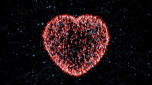 Valentine Heart Animation Background video