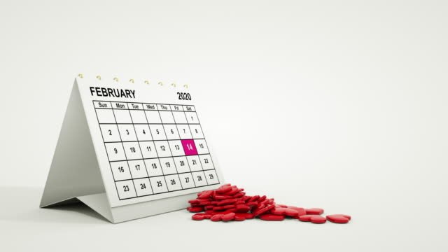 Valentines 3D Hearts Blowing Out from February Calendar 2020