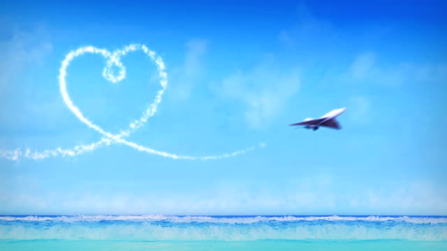 Valentine's Day, Airplanes Form Heart In The Sky With Smoke video