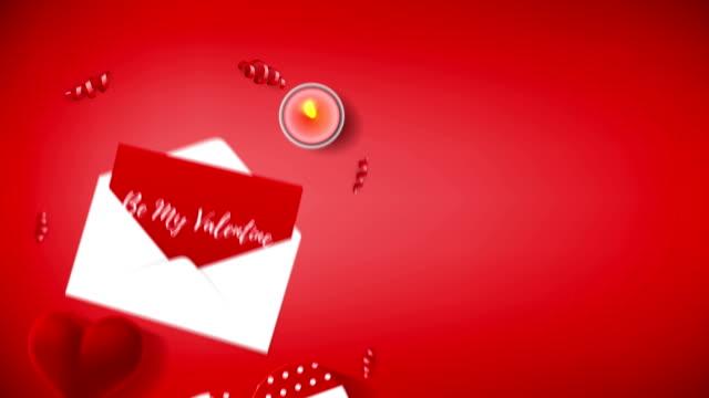 valentinstag-animation-hintergrund - valentinstags karte stock-videos und b-roll-filmmaterial