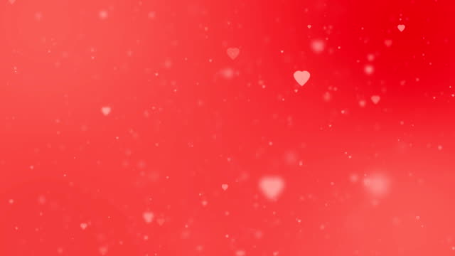 valentines day background, hearts background, valentine's day motion background. heart shapes loopable love background. - simbolo concettuale video stock e b–roll