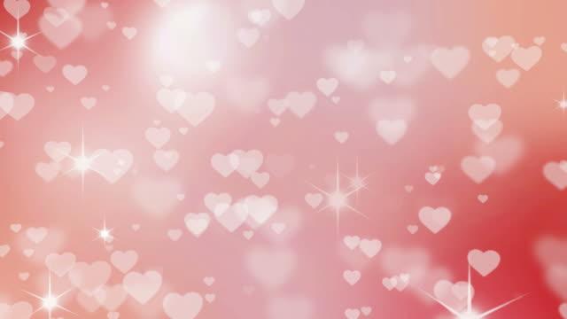 vídeos y material grabado en eventos de stock de fondo del día de san valentín con corazones-seamless loop - anniversary