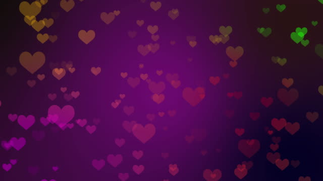 Valentine's day background with hearts video