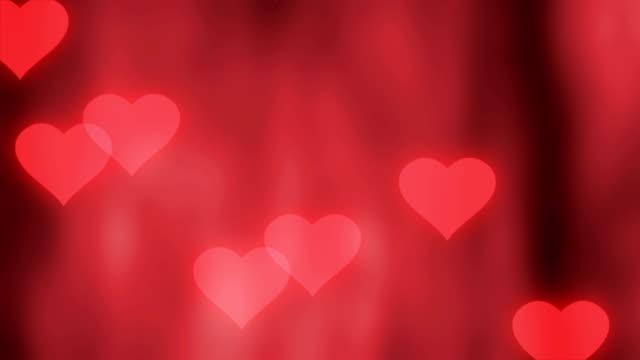 vidéos et rushes de de la saint-valentin fond avec des coeurs - rendez vous amoureux