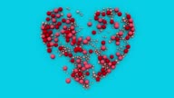 istock Valentine's day concept background. Valentine heart made with cells that multiply organically 1203844326