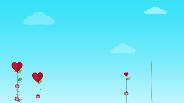 vídeos de stock, filmes e b-roll de conceito de dia dos namorados fundo. dia dos namorados fundo romântico com corações. desenho animado - clip art