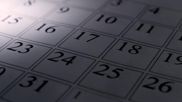 Valentines day in calendar video