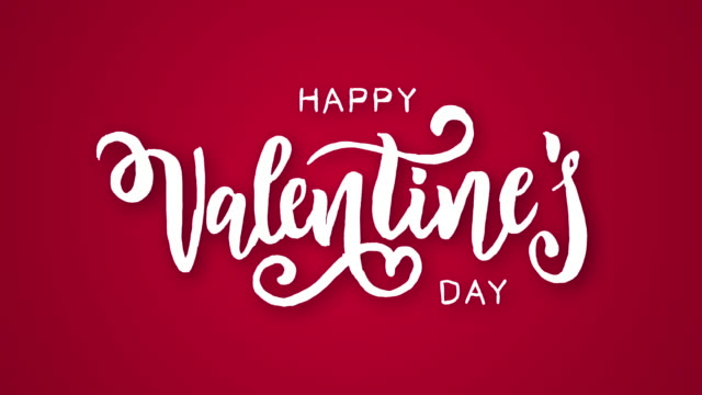 Valentine's day logo animation, hand-drawn effect writing, ideal footage for romantic moments and for Valentine's day
