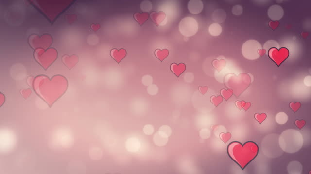 Valentine's Day Particle pink Loopable video
