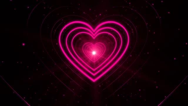 Valentine's Day Pink Heart Shape Tunnel