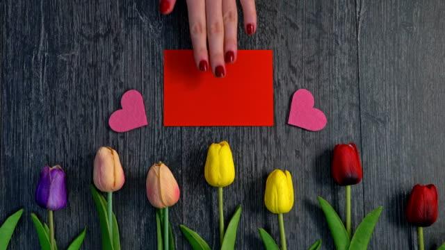 zum valentinstag - valentinstags karte stock-videos und b-roll-filmmaterial