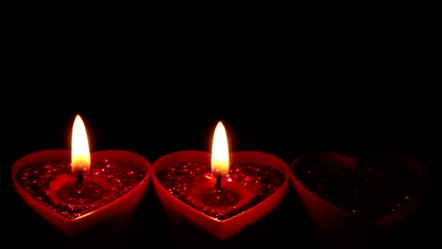 Valentines Hearts Candle video
