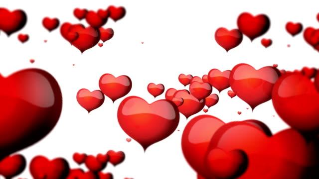 valentinstag herzen - valentinstags karte stock-videos und b-roll-filmmaterial