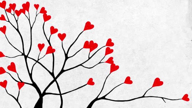Valentines tree close-up video
