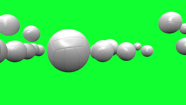 HD : Vallay-ball Animation with Green Screen. video