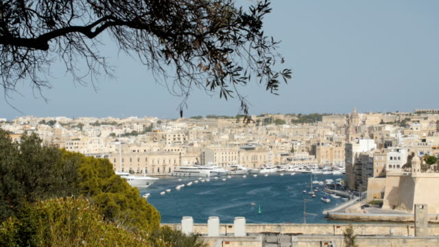 Valletta, Malta harbor video