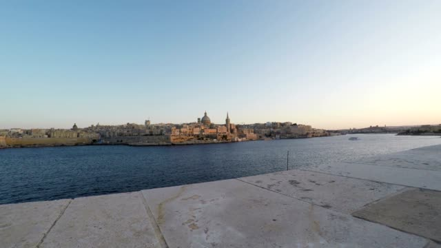 Valletta, Panoramic View, Capital City, Republic of Malta, Real Time video