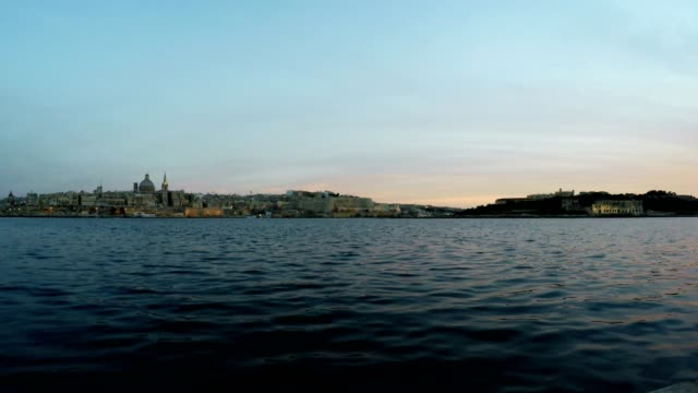 Valletta, Panoramic View, Capital City, Republic of Malta, Time Lapse video